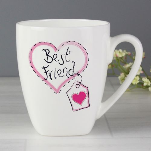 Best Friend Heart Latte Mug - Lovely gift for a special friend